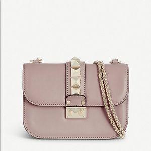 Small Valentino Glam Rock Bag - Poudre